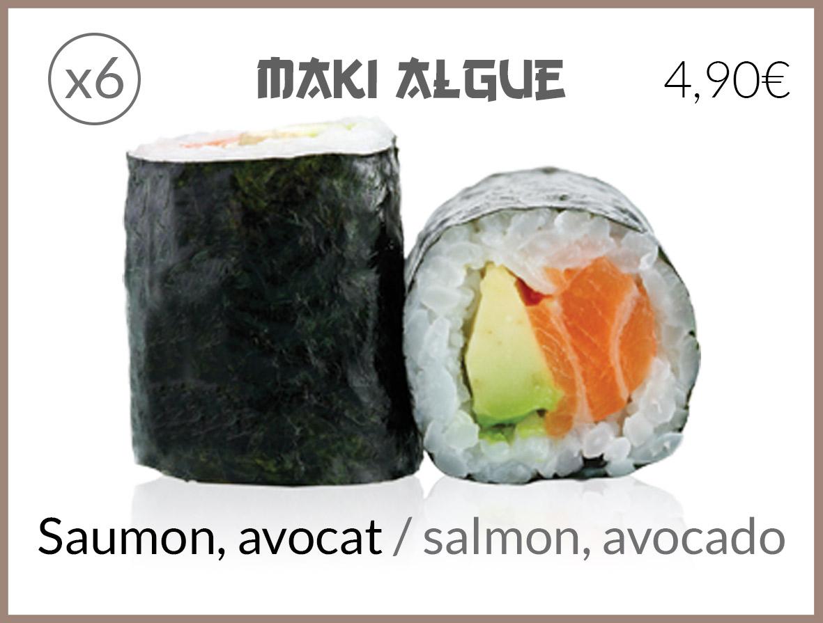 algue saumon avocat