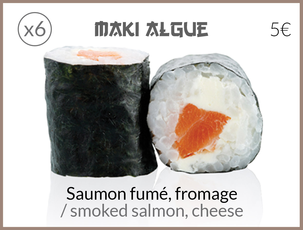 algue saumon fume fromage