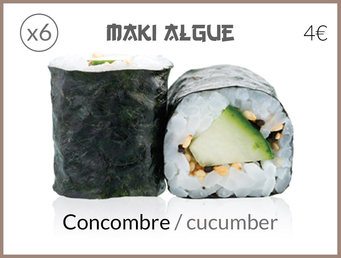 algue concombre