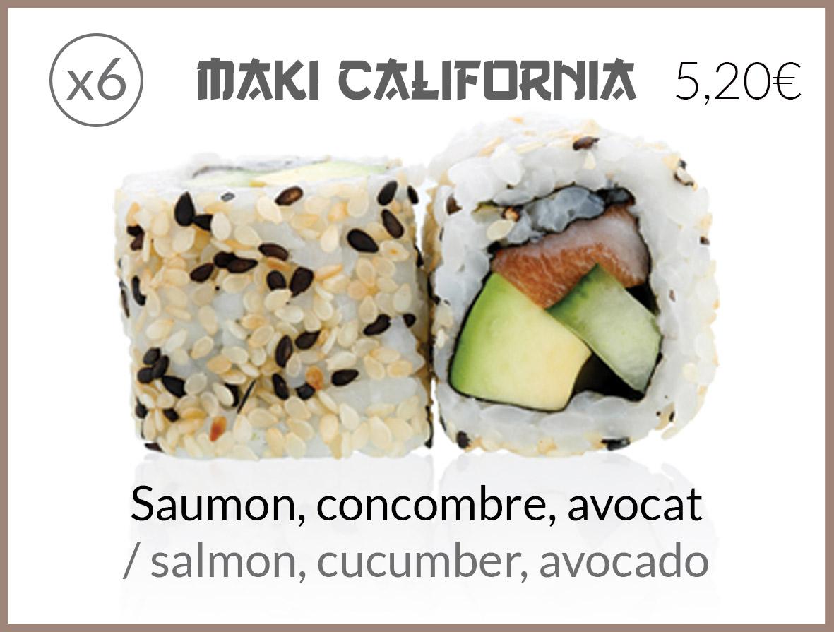 cali saumon concombre avocat