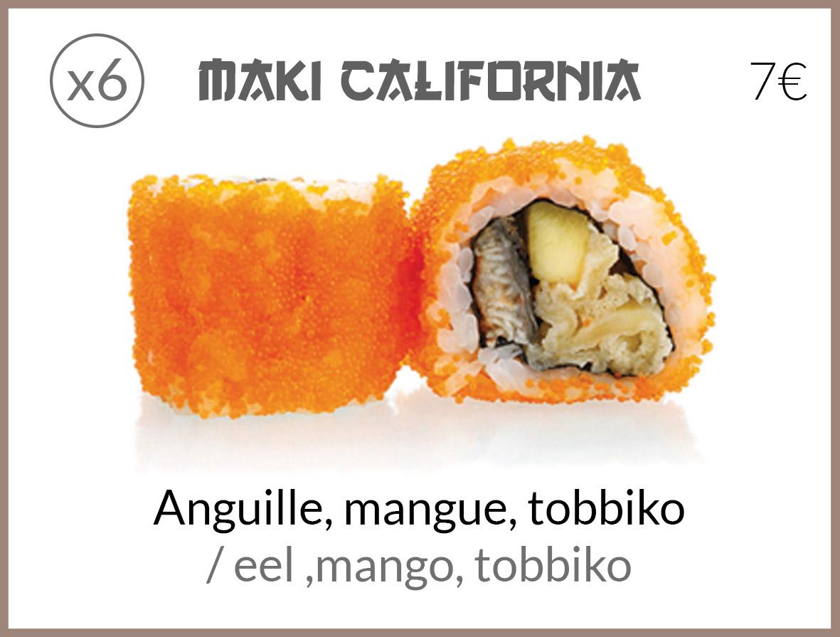 cali anguille mangue tobbiko