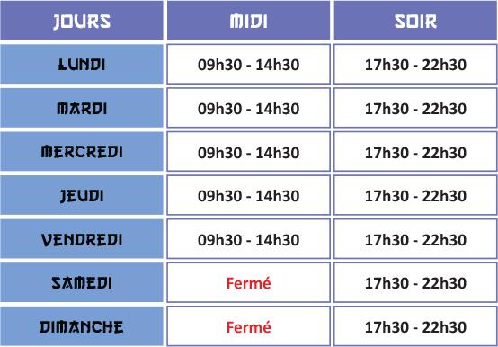 horaires