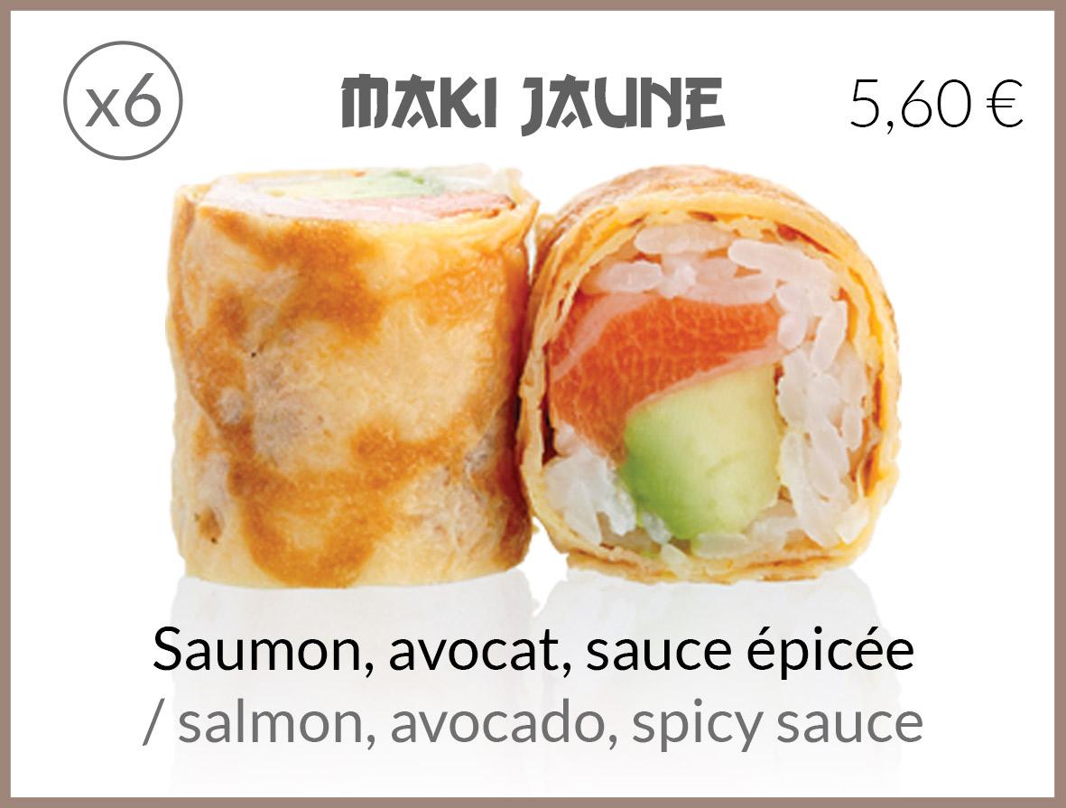 jaune saumon avocat sauce epicee