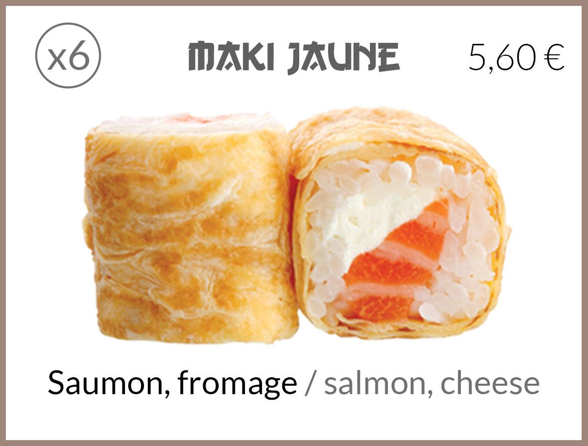 jaune saumon fromage