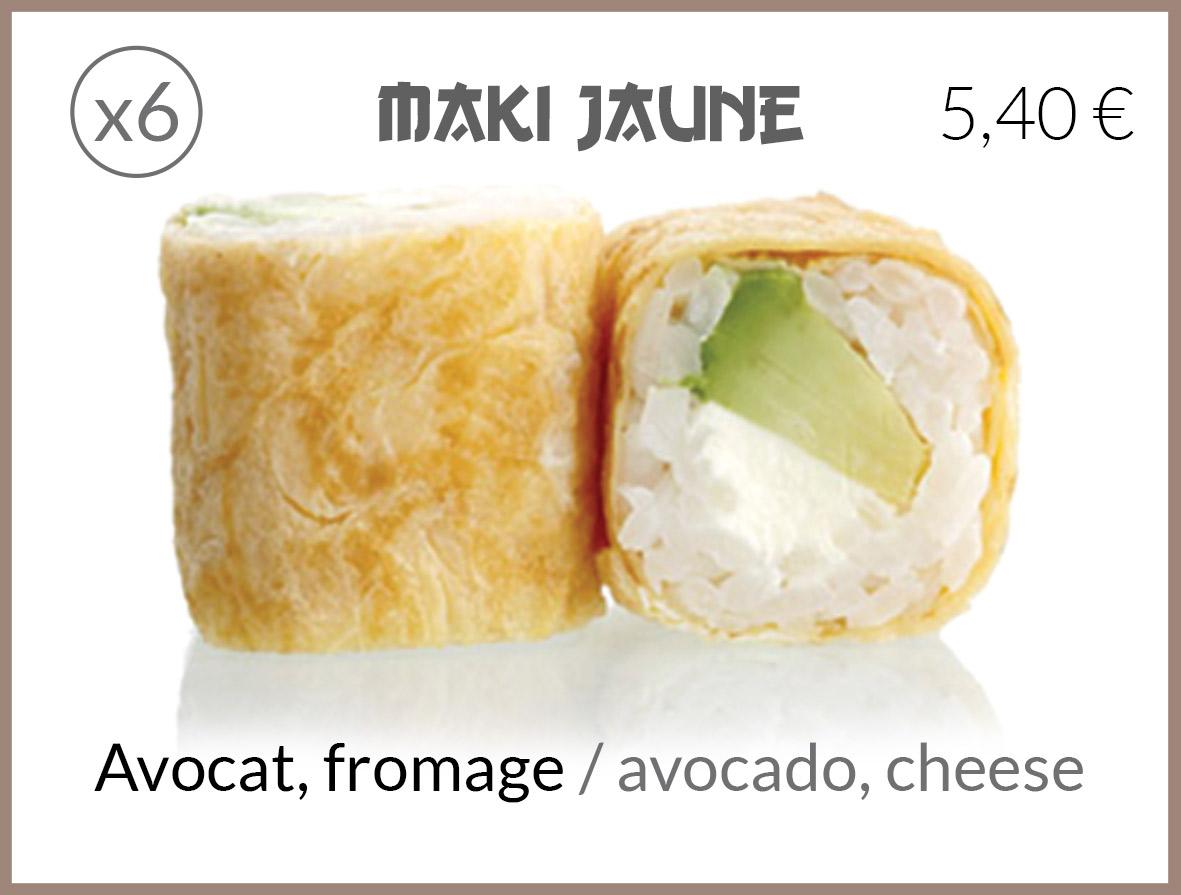 jaune avocat fromage