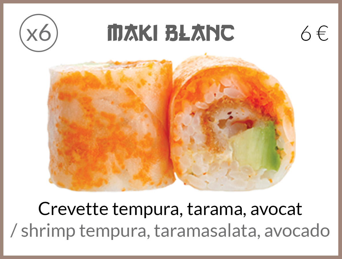 maki crevette tempura tarama