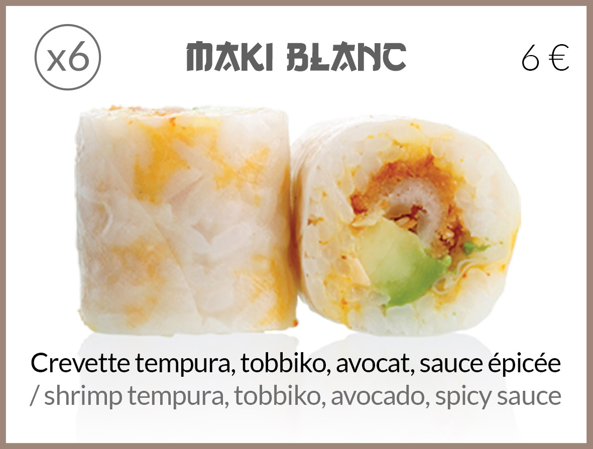 maki tempura tobbiko