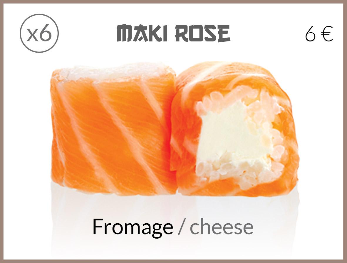 maki roll saumon fromage