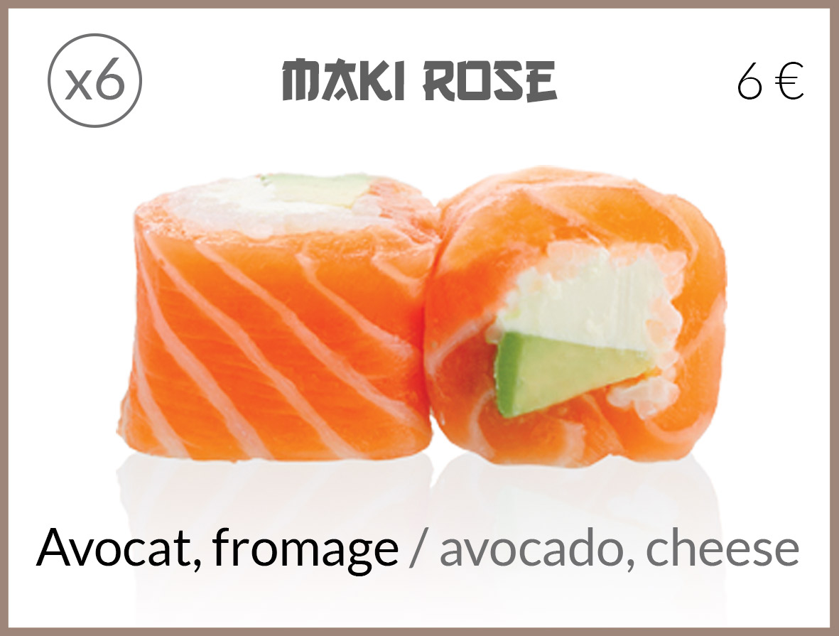 maki roll avocat fromage