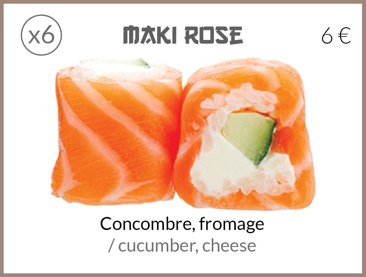 maki roll concombre fromage