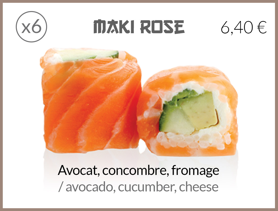 maki roll avocat concombre fromage