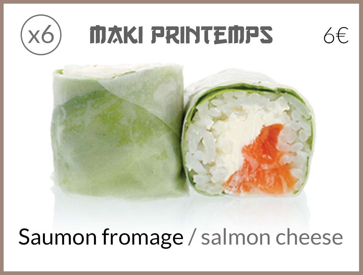 maki printemps saumon fromage