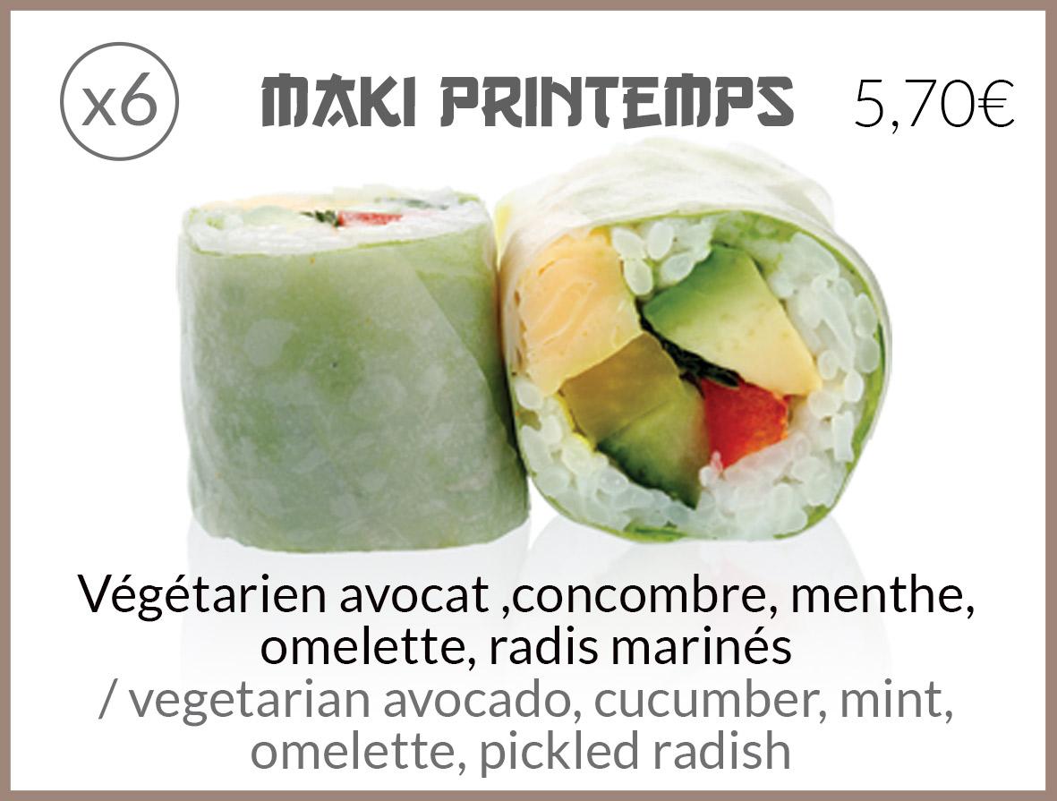 maki printemps omelette radis marinés