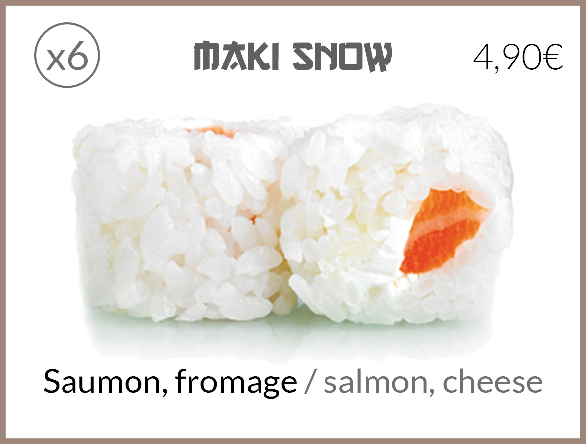 snow fromage saumon