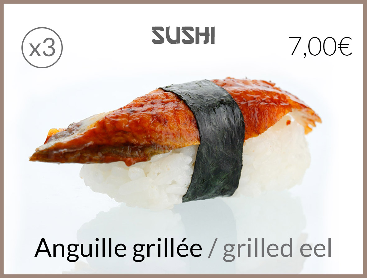 sushi anguille grillee
