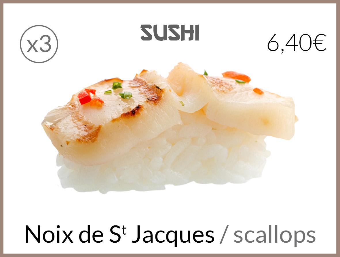 sushi noix de st jaques