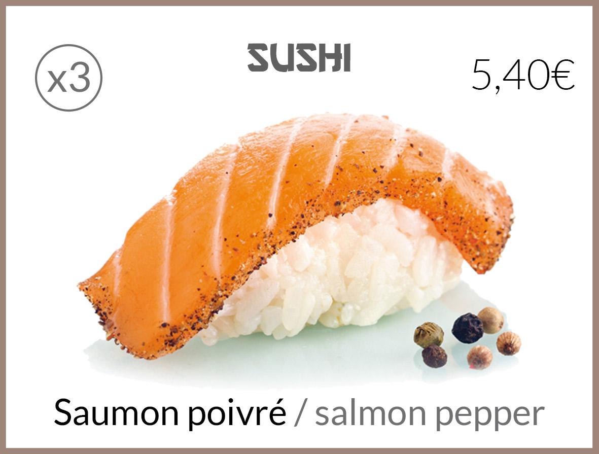 sushi saumon poivré