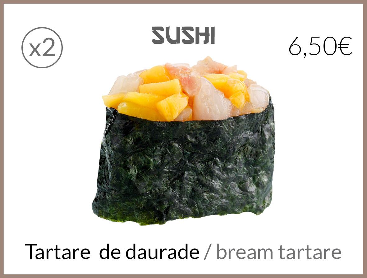 sushi tartare de daurade