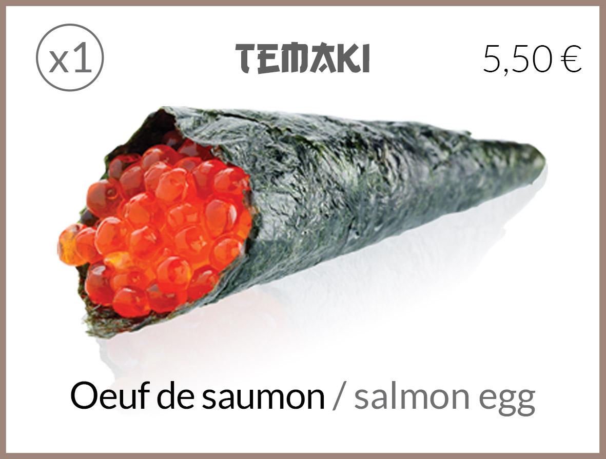 temaki oeuf saumon