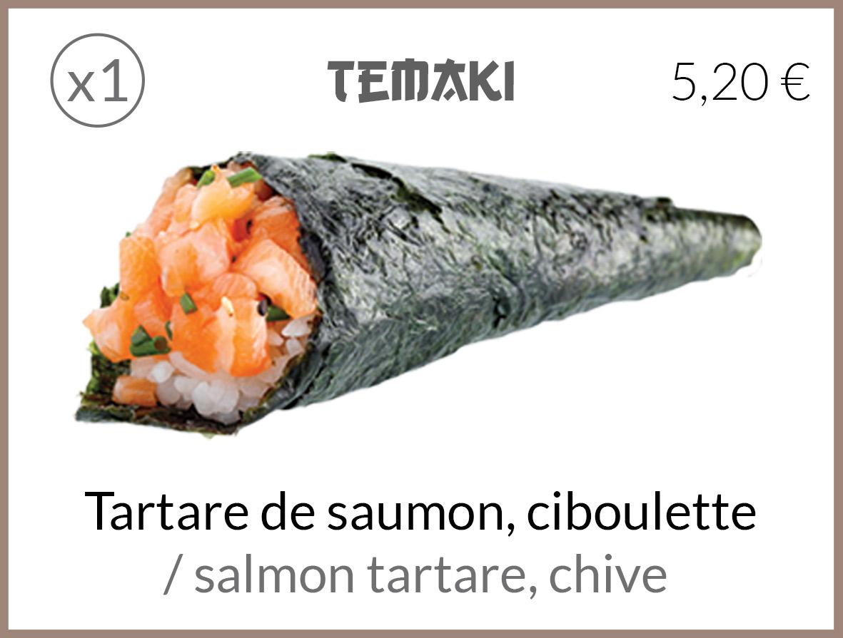 temaki tartare saumon avocat