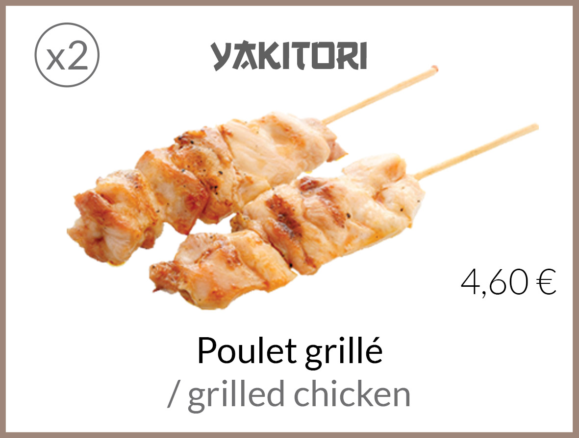 yakitori poulet grille